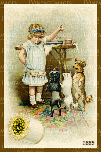 Sewing Trade Card 1885 - 76