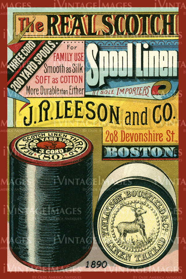 Sewing Trade Card 1890 - 91