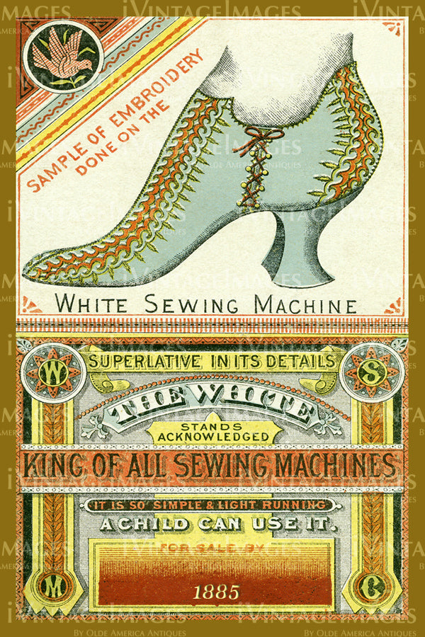 Sewing Trade Card 1885 - 94