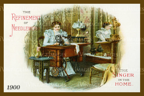 Sewing Trade Card 1900 - 145