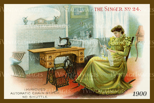Sewing Trade Card 1900 - 146