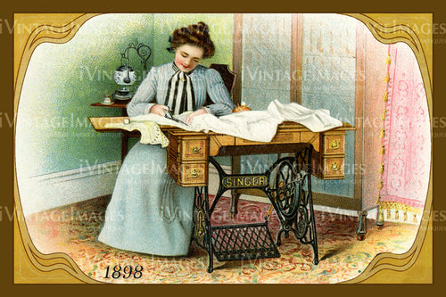 Sewing Trade Card 1898 - 150