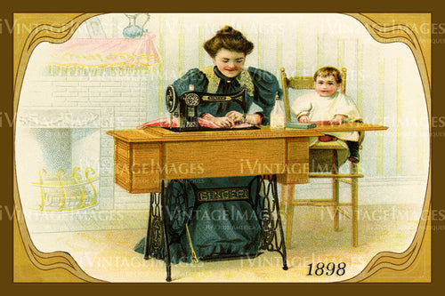Sewing Trade Card 1898 - 151