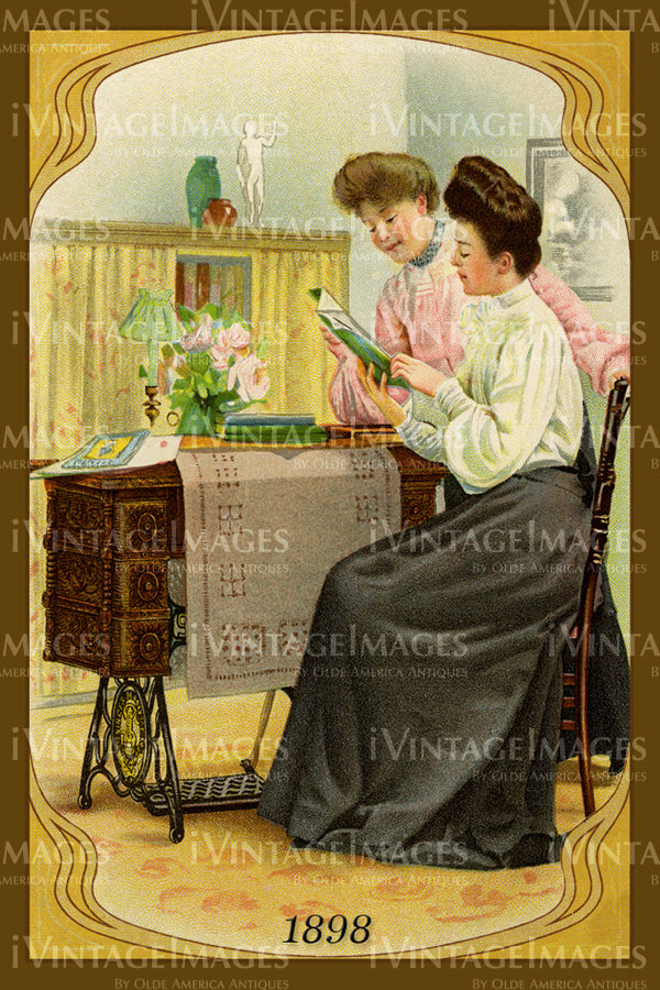 Sewing Trade Card 1898 - 152