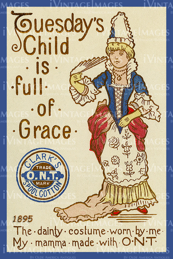 Sewing Trade Card 1895 - 158