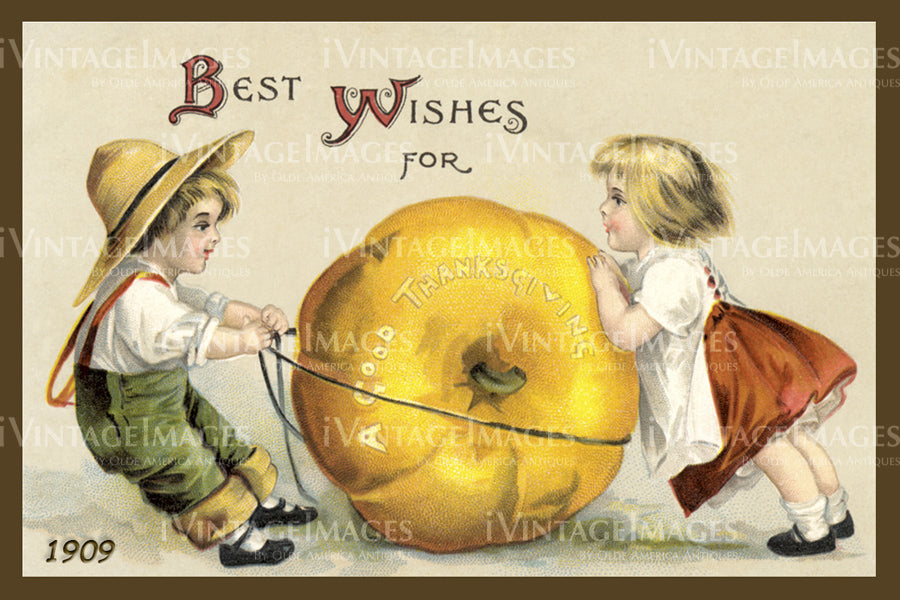 Thanksgiving Postcard 1909 - 01