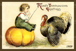 Thanksgiving Postcard 1909 - 02