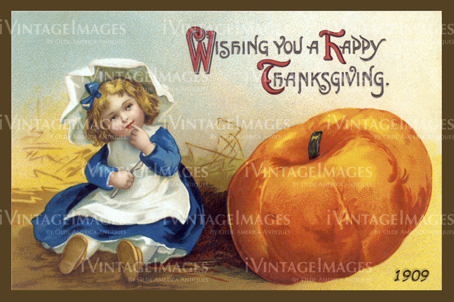 Thanksgiving Postcard 1909 - 03