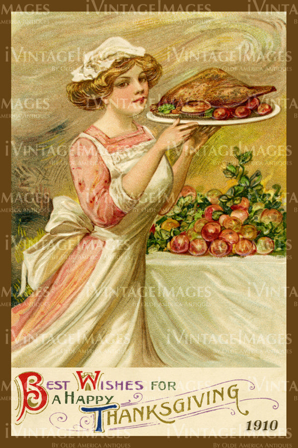Thanksgiving Postcard 1909 - 17
