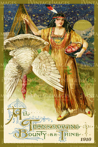 Thanksgiving Postcard 1909 - 23