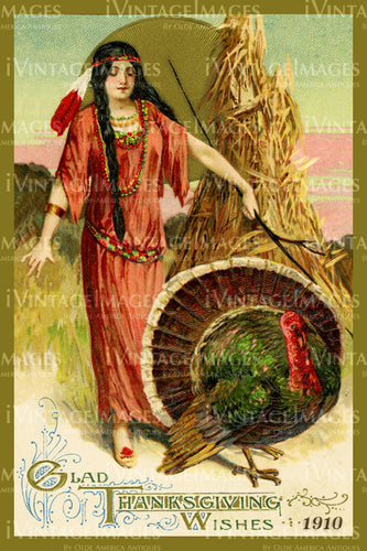 Thanksgiving Postcard 1909 - 24
