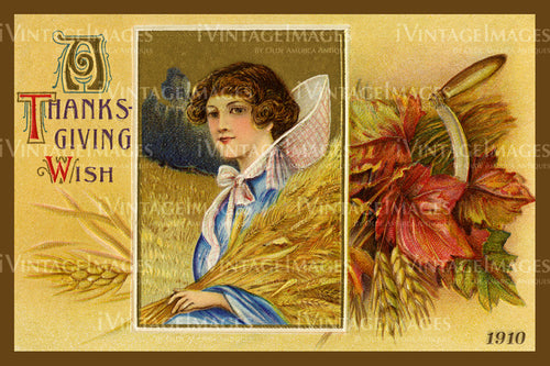 Thanksgiving Postcard 1909 - 28