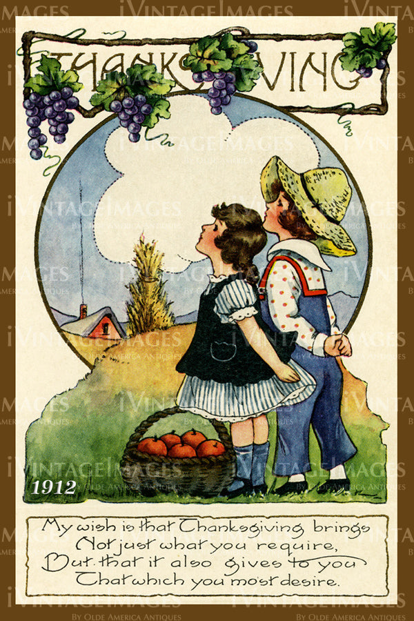 Thanksgiving Postcard 1909 - 32
