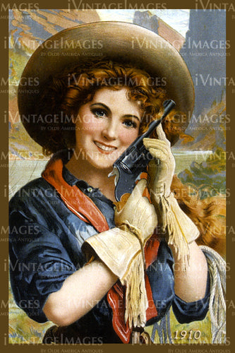 A Cowgirl Poster 1910 - 28