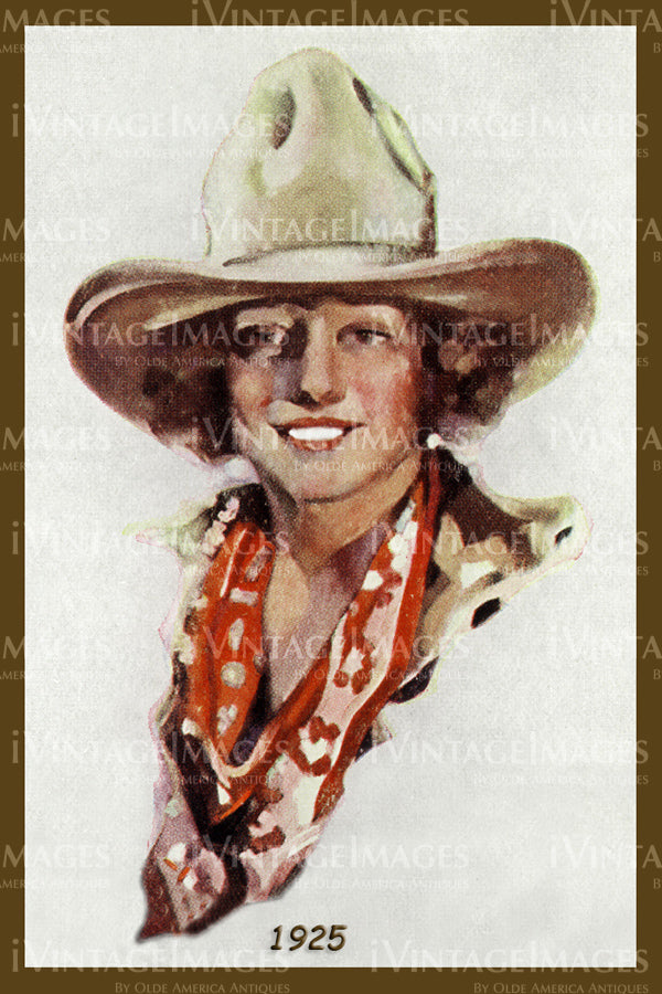 A Cowgirl Poster 1925 - 29