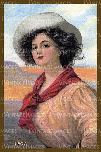 A Cowgirl Poster 1907 - 30