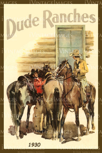 A Cowgirl and Cowboy Poster 1930 - 37