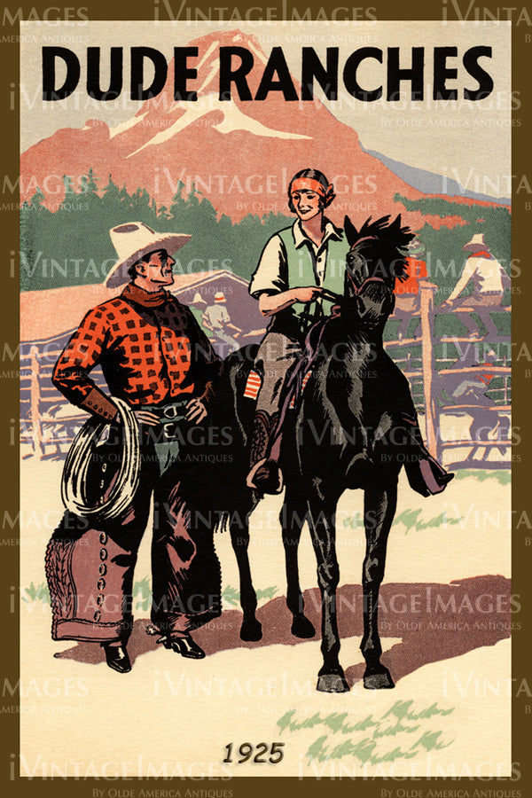 A Cowgirl and Cowboy Poster 1925 - 38