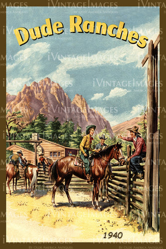 A Cowgirl and Cowboy Poster 1940 - 39