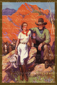 A Cowgirl and Cowboy Print 1925 - 40