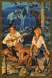 A Cowgirl and Cowboy Print 1930 - 43