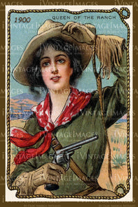 A Cowgirl Trade Card 1900 - 52
