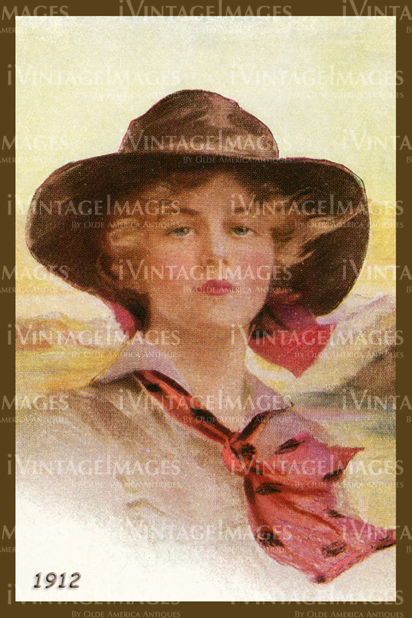 A Cowgirl Poster 1912 - 53