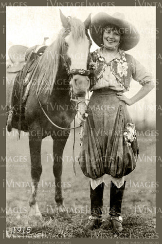 Rodeo Cowgirl Photo 1915 - 62
