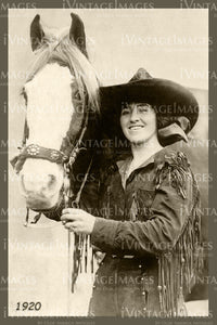 Rodeo Cowgirl Photo 1920 - 63