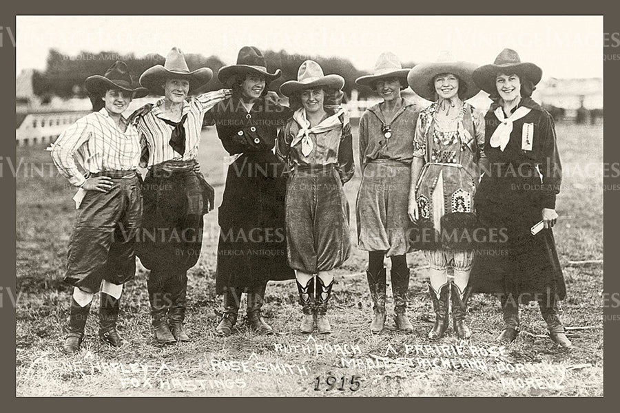 Rodeo Cowgirls Photo 1915 - 64