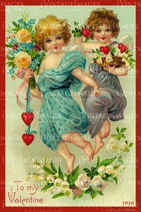 Valentine and Cupid 1910 - 77