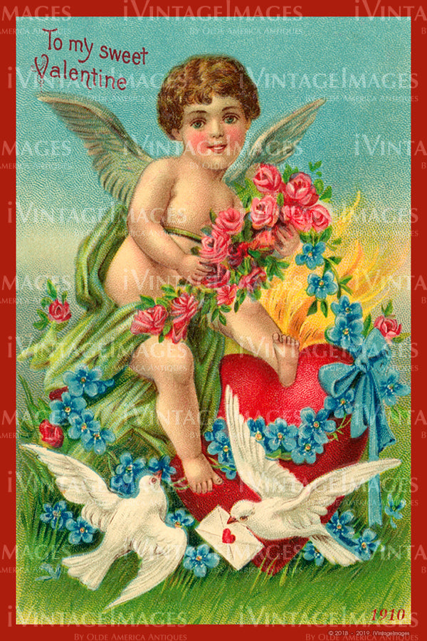 Valentine and Cupid 1910 - 82