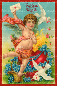 Valentine and Cupid 1910 - 84