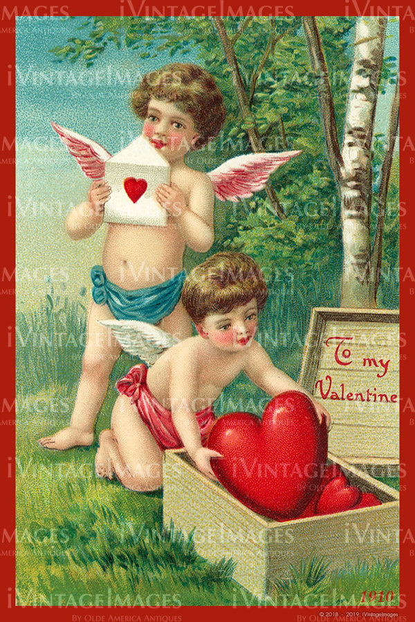 Valentine and Cupid 1910 - 85