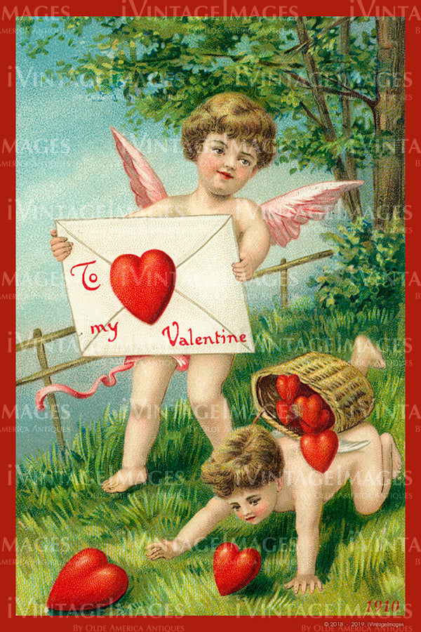 Valentine and Cupid 1910 - 86
