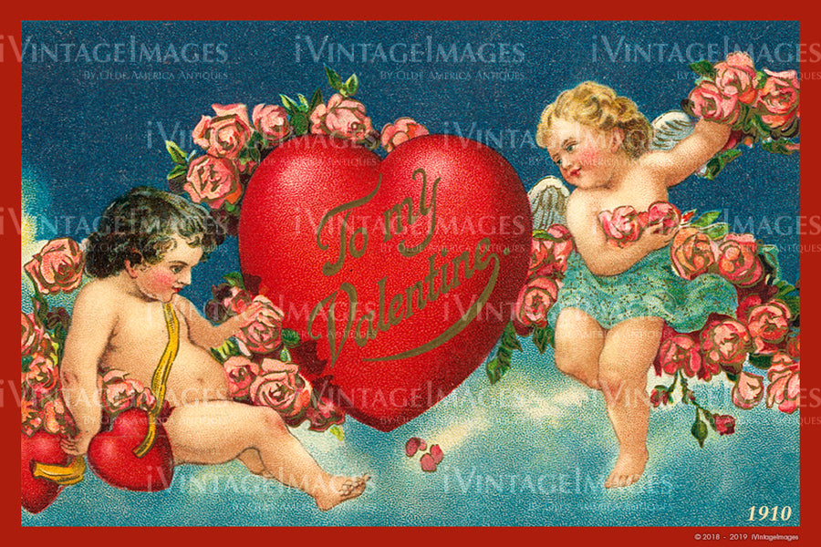Valentine and Cupid 1910 - 93