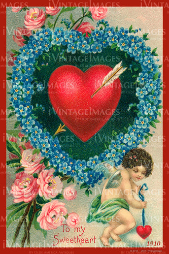 Valentine and Cupid 1910 - 100