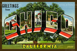 Chico California Large Letter 1930 - 009