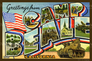 Camp Beale California Large Letter 1945 - 011