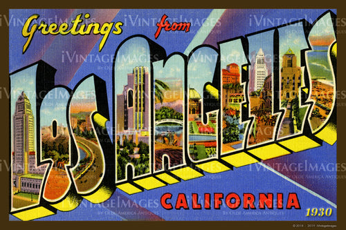 Los Angeles California Large Letter 1930 - 028