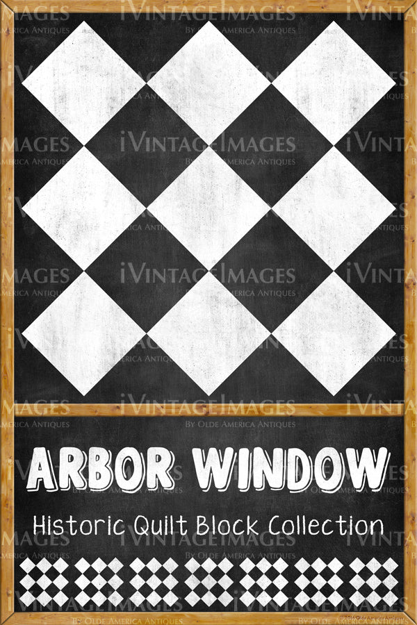 Arbor Window Quilt Block Design by Susan Davis - 1