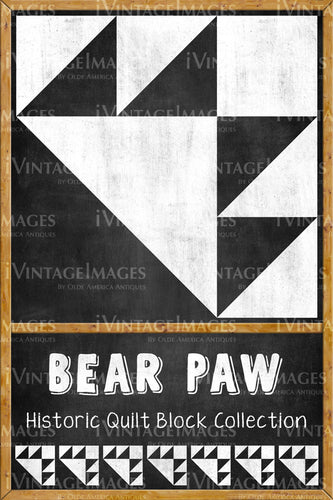 Bear Paw Quilt Block Design by Susan Davis - 3