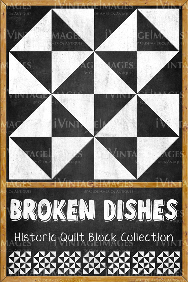 Broken Dishes Quilt Block Design by Susan Davis - 5