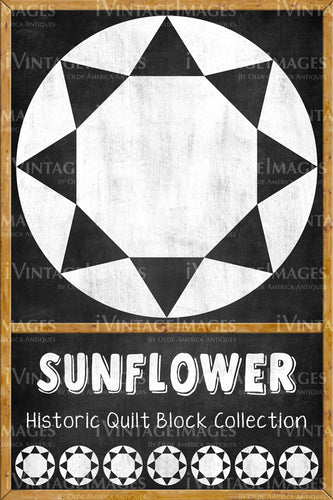Sunflower Quilt Block Design by Susan Davis - 20