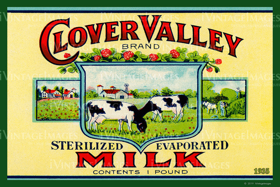 Evaporated Milk Label - 1935 - 061