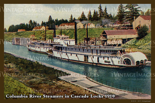 Columbia River Postcard 1910 - 09