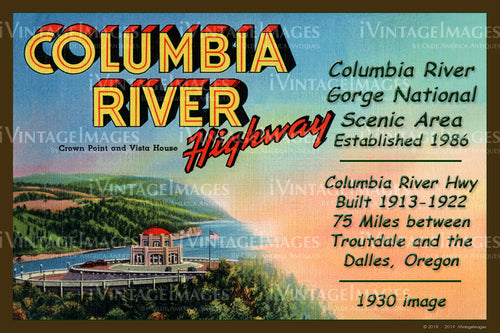 Columbia River Postcard 1930 - 14