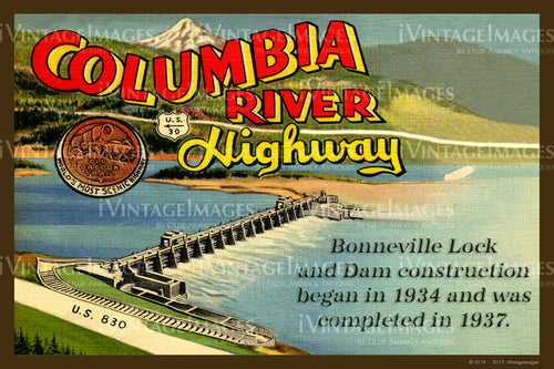 Columbia River Postcard 1937 - 18