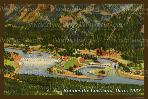 Columbia River Postcard 1937 - 20