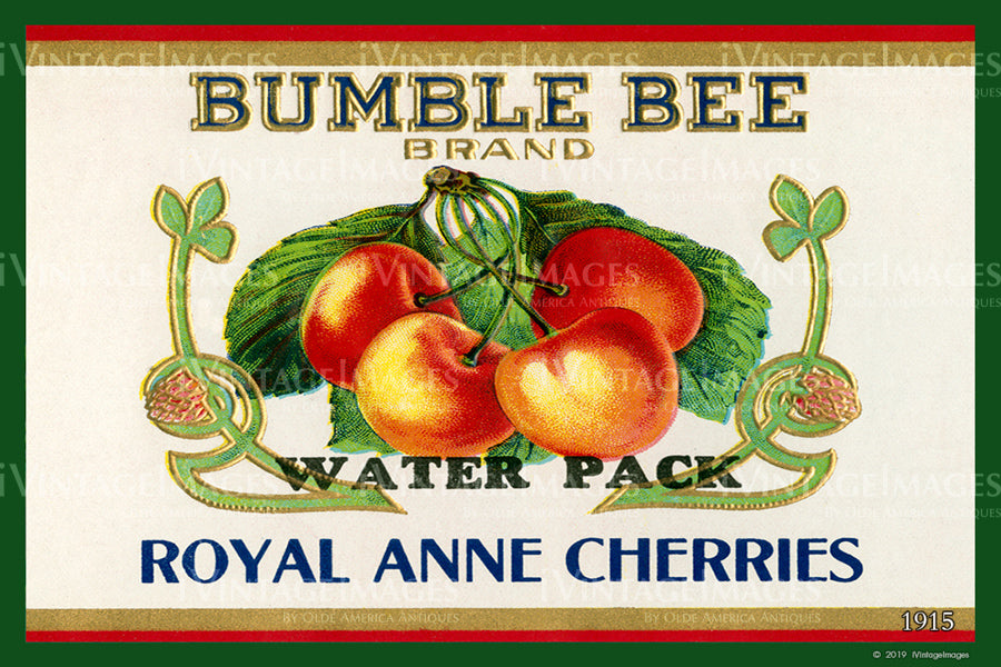 Bumble Bee Cherries 1915 - 022